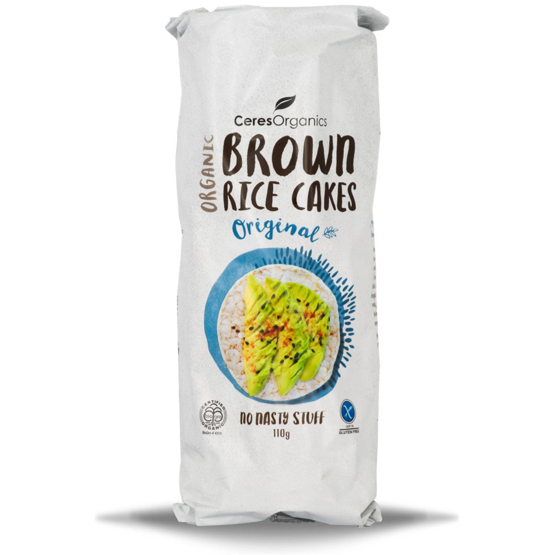 Ceres Organics Brown Rice Cakes - Original, 110 g.