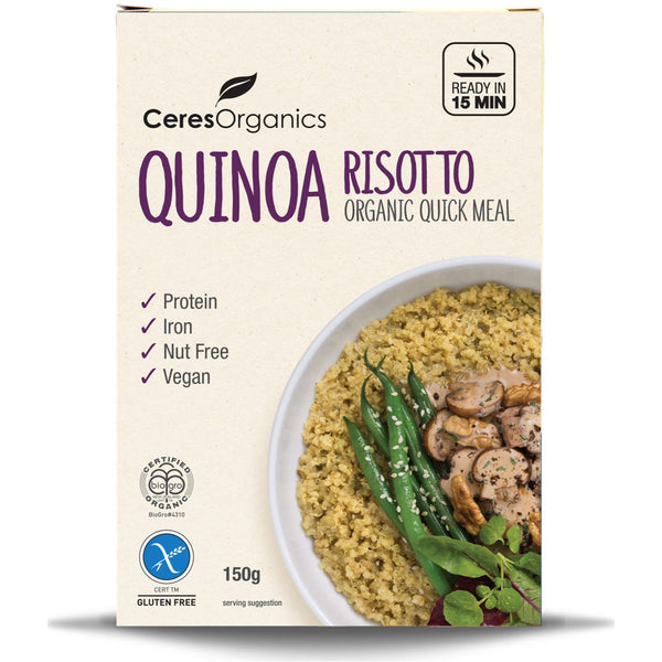 Ceres Organics Quinoa Risotto Quick Meal, 150 g.