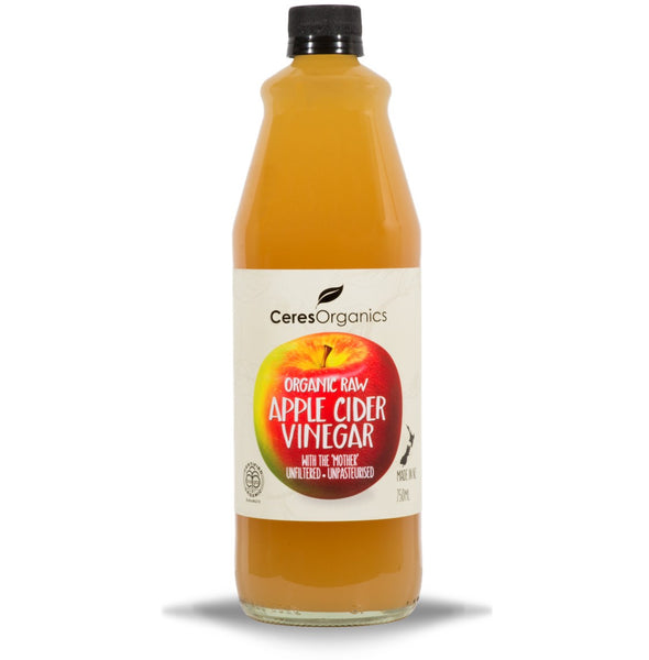 Ceres Organics Raw Apple Cider Vinegar, 750 ml.