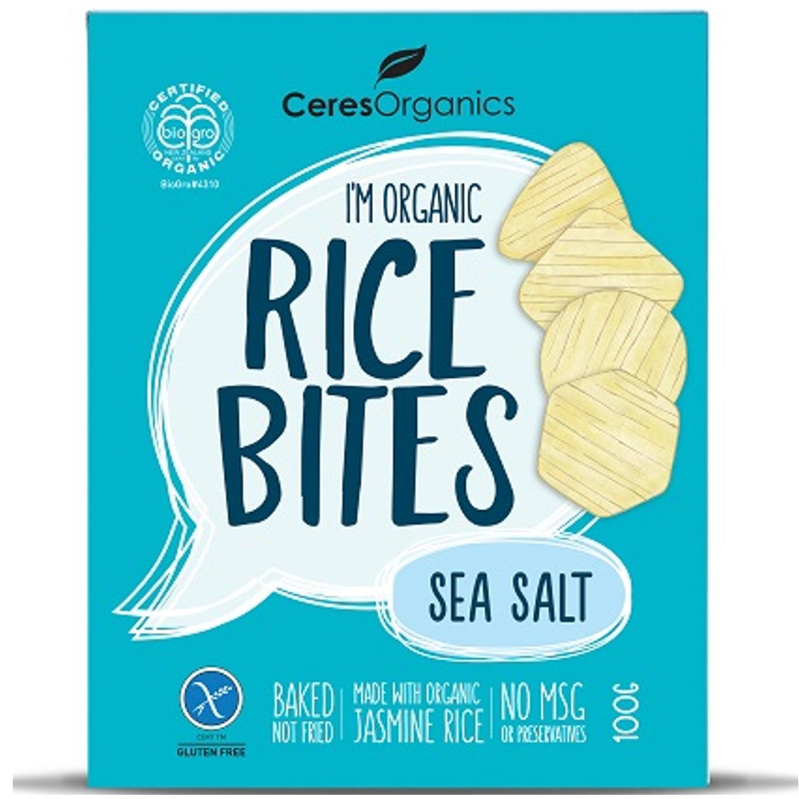 Ceres Organics Rice Bites - Sea Salt, 100 g.-NaturesWisdom