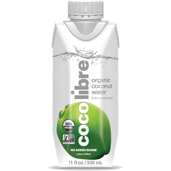 Coco Libre Pure Organic Coconut Water (>95% Organic), 330 ml.