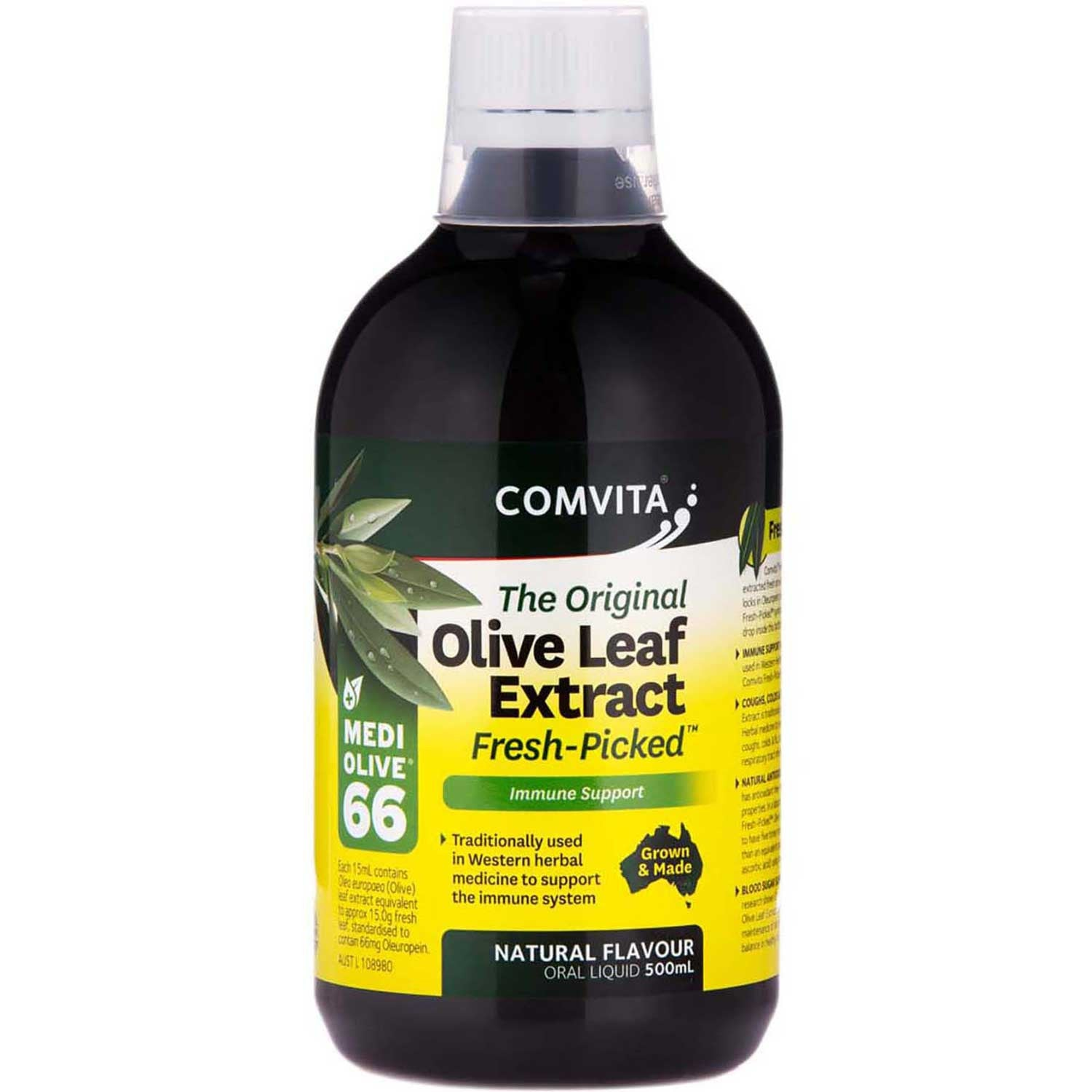 Comvita Olive Leaf Extract - Natural Flavor, 500 ml.