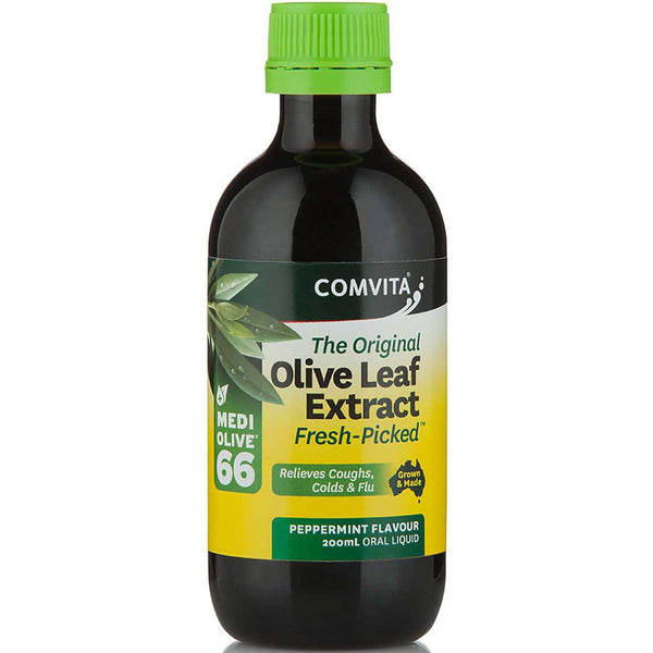 Comvita Olive Leaf Extract - Peppermint Flavor, 200 ml.