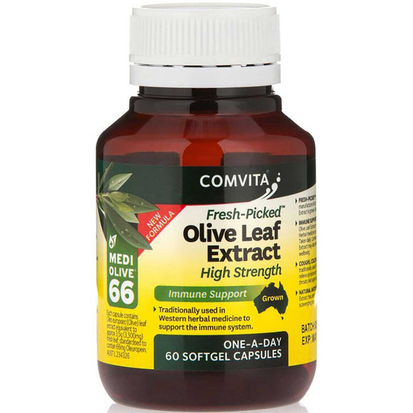 [Buy 2 @ 20% OFF] Comvita Olive Leaf Extract Capsules (High Strength), 60 caps.