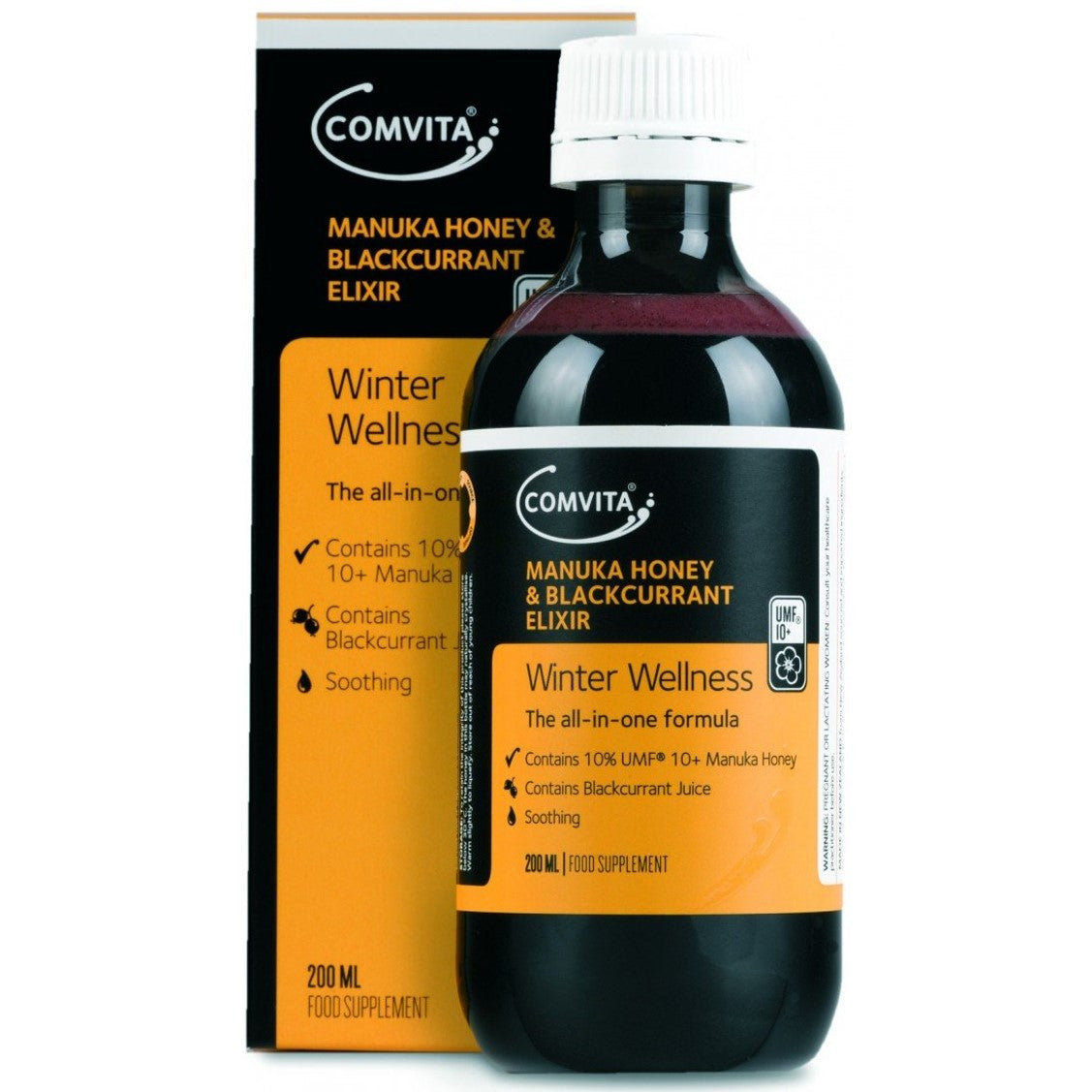 Comvita Manuka Honey & Blackcurrant Elixir,200ml-NaturesWisdom
