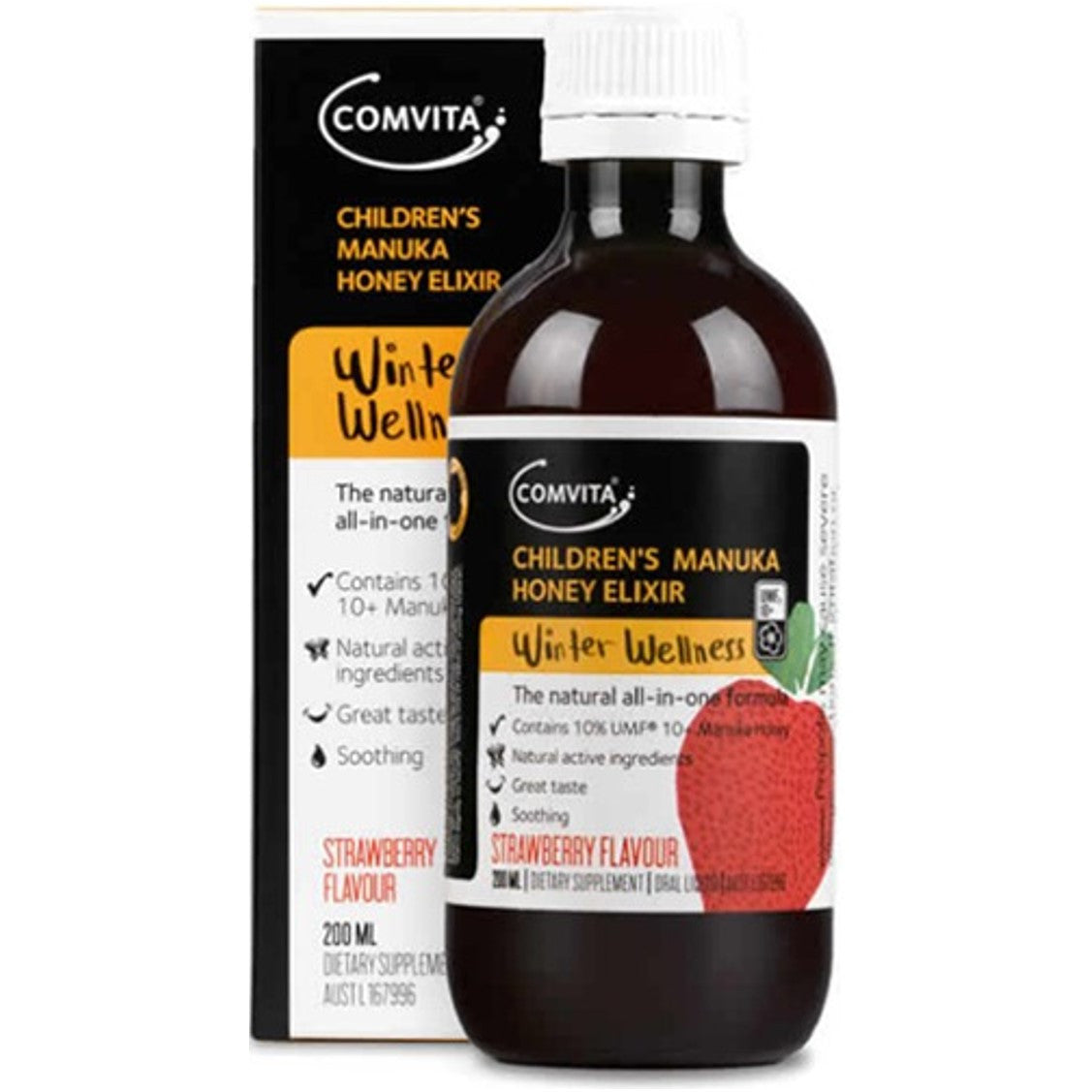 Comvita Children's Manuka Honey Elixir - Strawberry,200ml