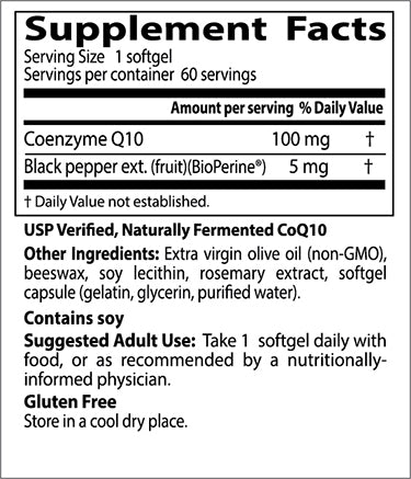 Doctor's Best High Absorption CoQ10 with BioPerine 100mg, 60 sgls-NaturesWisdom