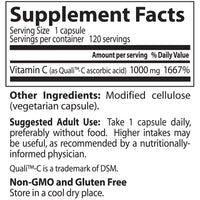 Doctor's Best Vitamin C featuring Quali-C 1000mg, 120 vcaps-NaturesWisdom