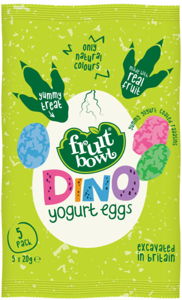 Fruit Bowl Dino Yogurt Eggs, 5 x 20 g.