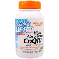 Doctor's Best High Absorption CoQ10 with BioPerine 100 mg, 120 vcaps-NaturesWisdom