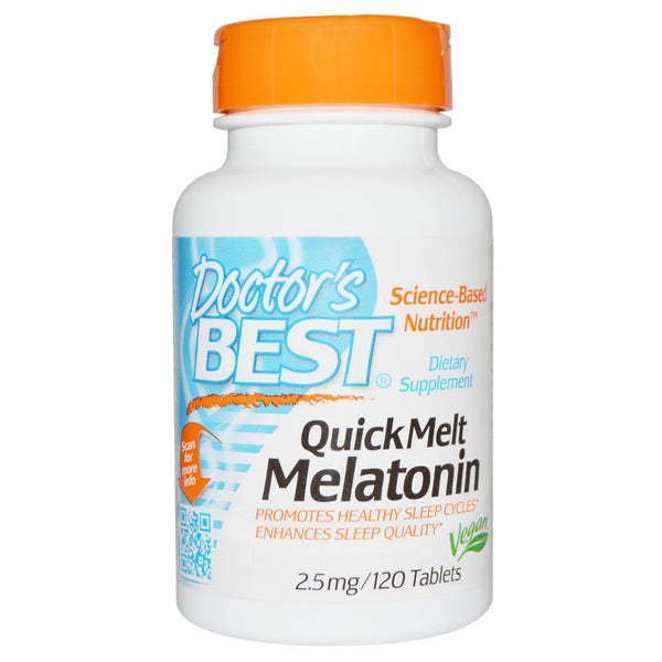 Doctor's Best Melatonin 2.5mg, 120 tabs