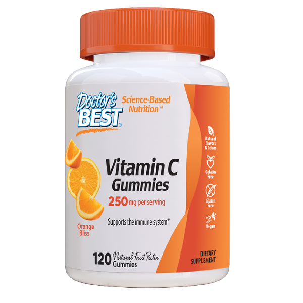 Doctor's Best Vitamin C 500mg Gummies, 120 gummies.