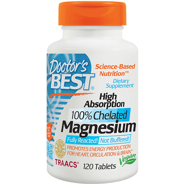 Doctor's Best High Absorption Magnesium 100mg, 120 tabs
