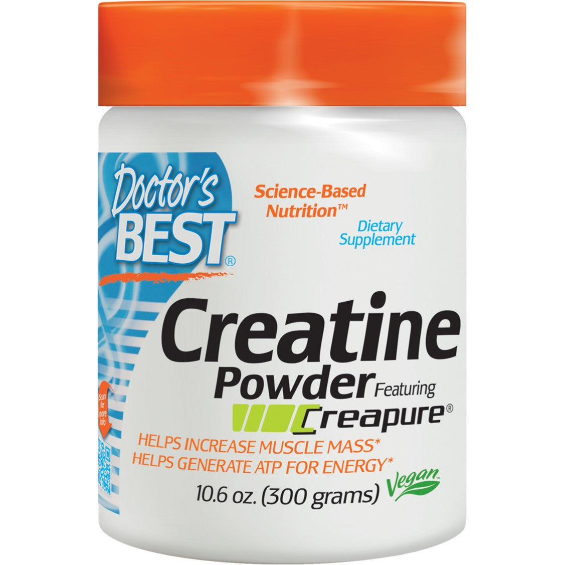 Doctor's Best Creatine Powder Featuring Creapure, 300 g.