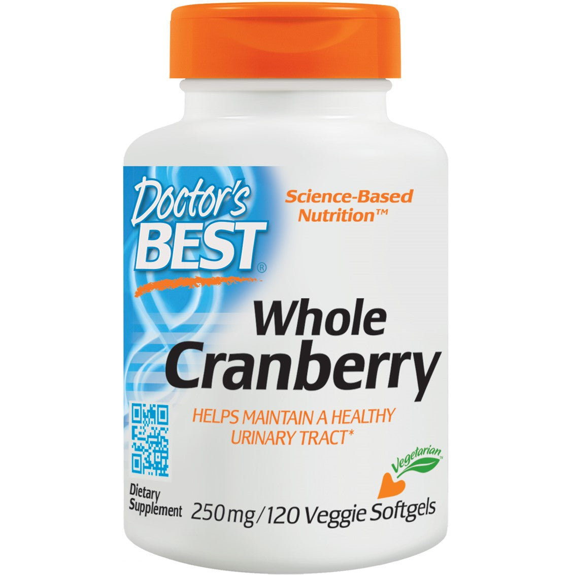 Doctor's Best Whole Cranberry 250mg, 120 sgls