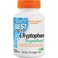Doctor's Best L-Tryptophan with TryptoPure 500mg, 90 vcaps