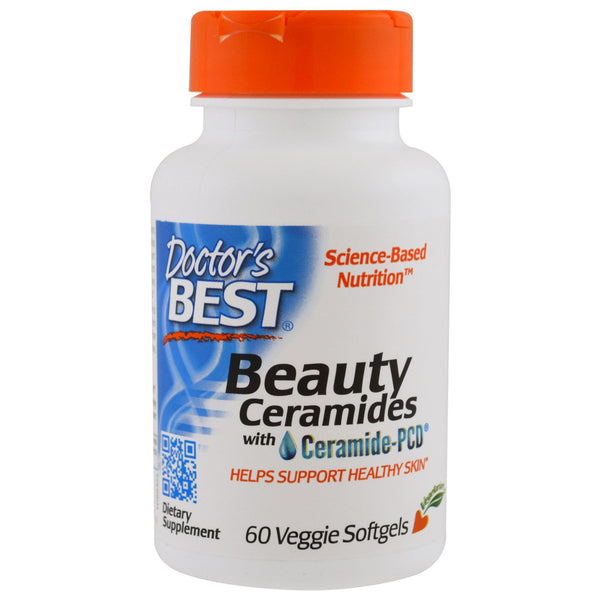 Doctor's Best Beauty Ceramides with Ceramide-PCD, 60 vcaps