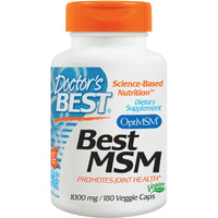 Doctor's Best Best MSM, 1000mg, 180 vcaps-NaturesWisdom