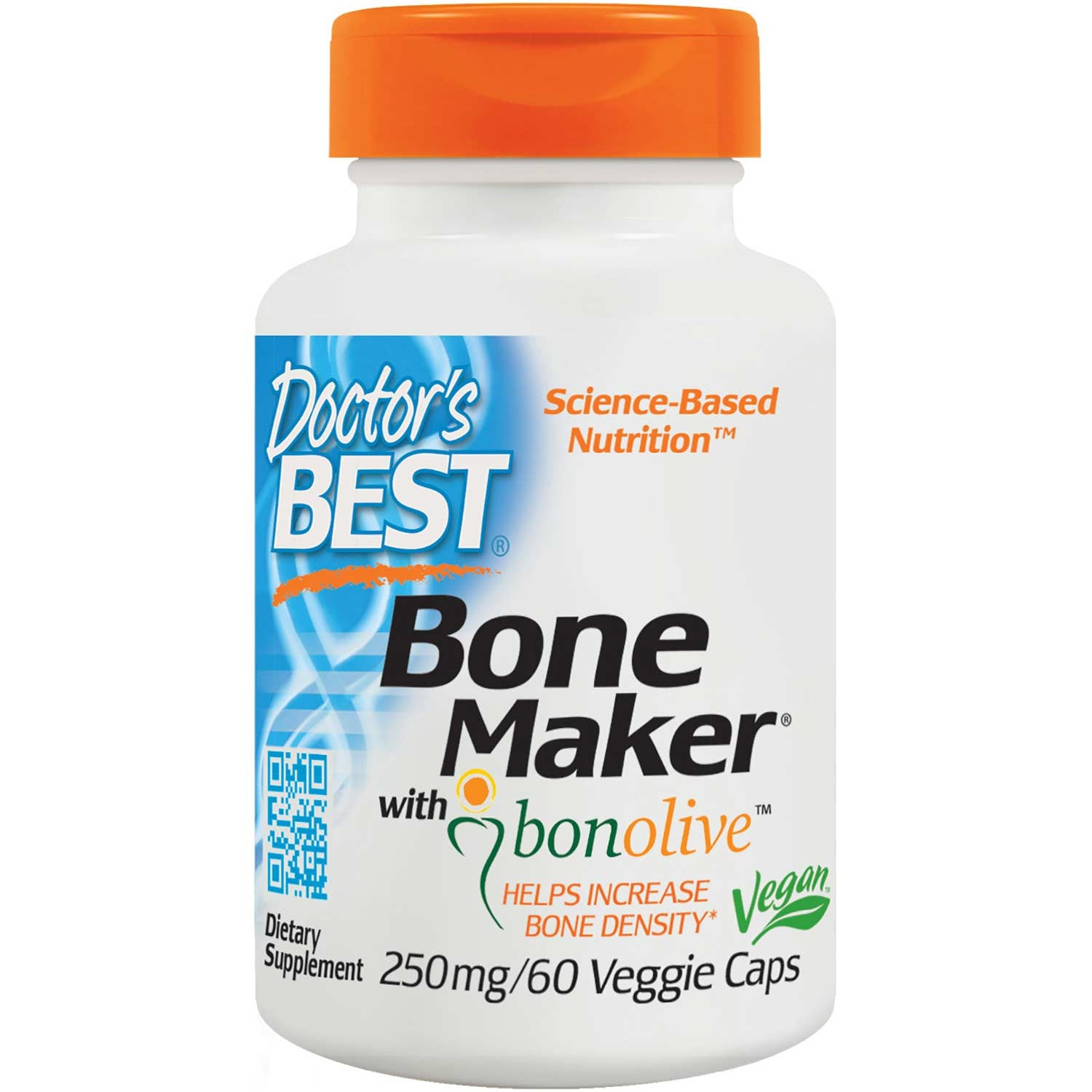 Doctor's Best Bone Maker with Bonolive 250mg, 60 vcaps-NaturesWisdom