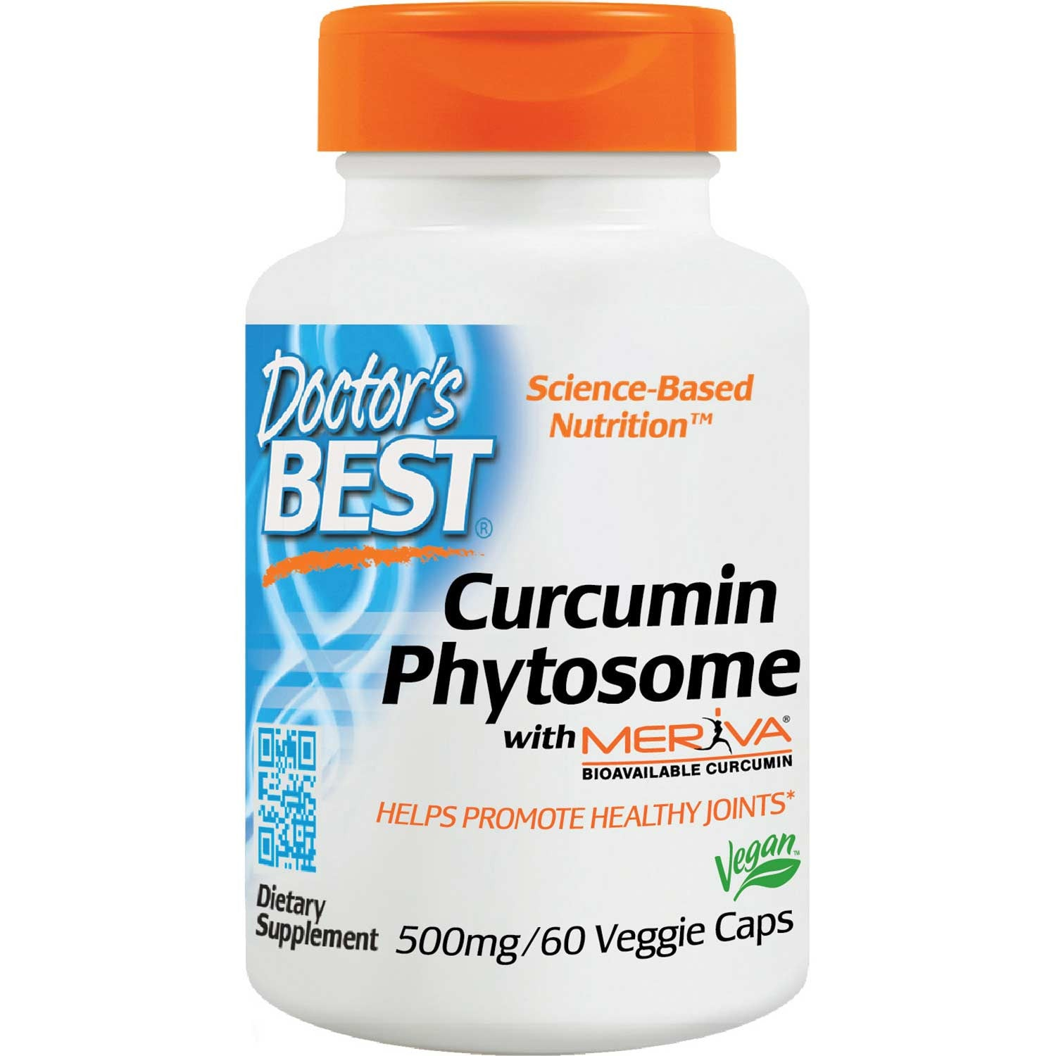 Doctor's Best Curcumin Phytosome with Meriva 500mg, 60 vcaps-NaturesWisdom