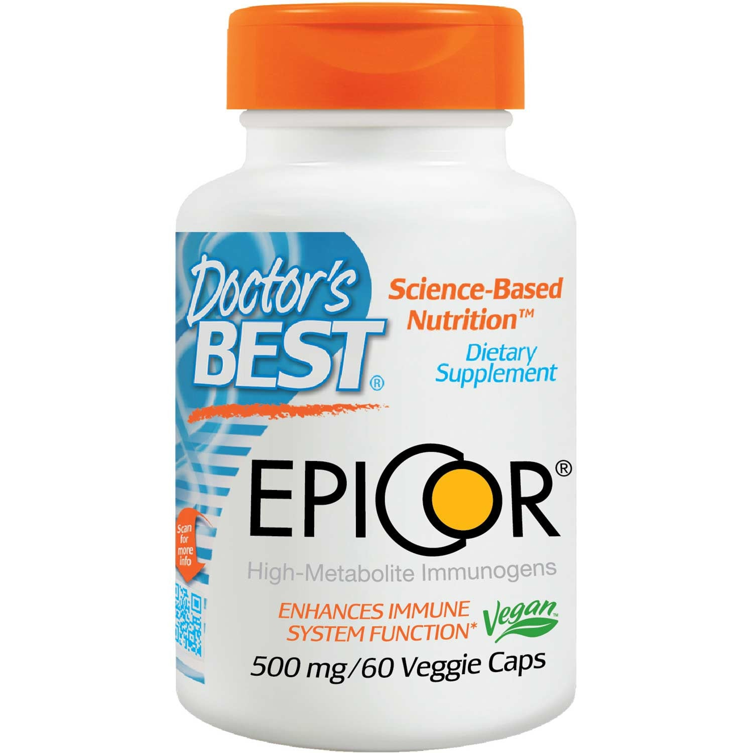 Doctor's Best EpiCor 500mg, 60 vcaps-NaturesWisdom