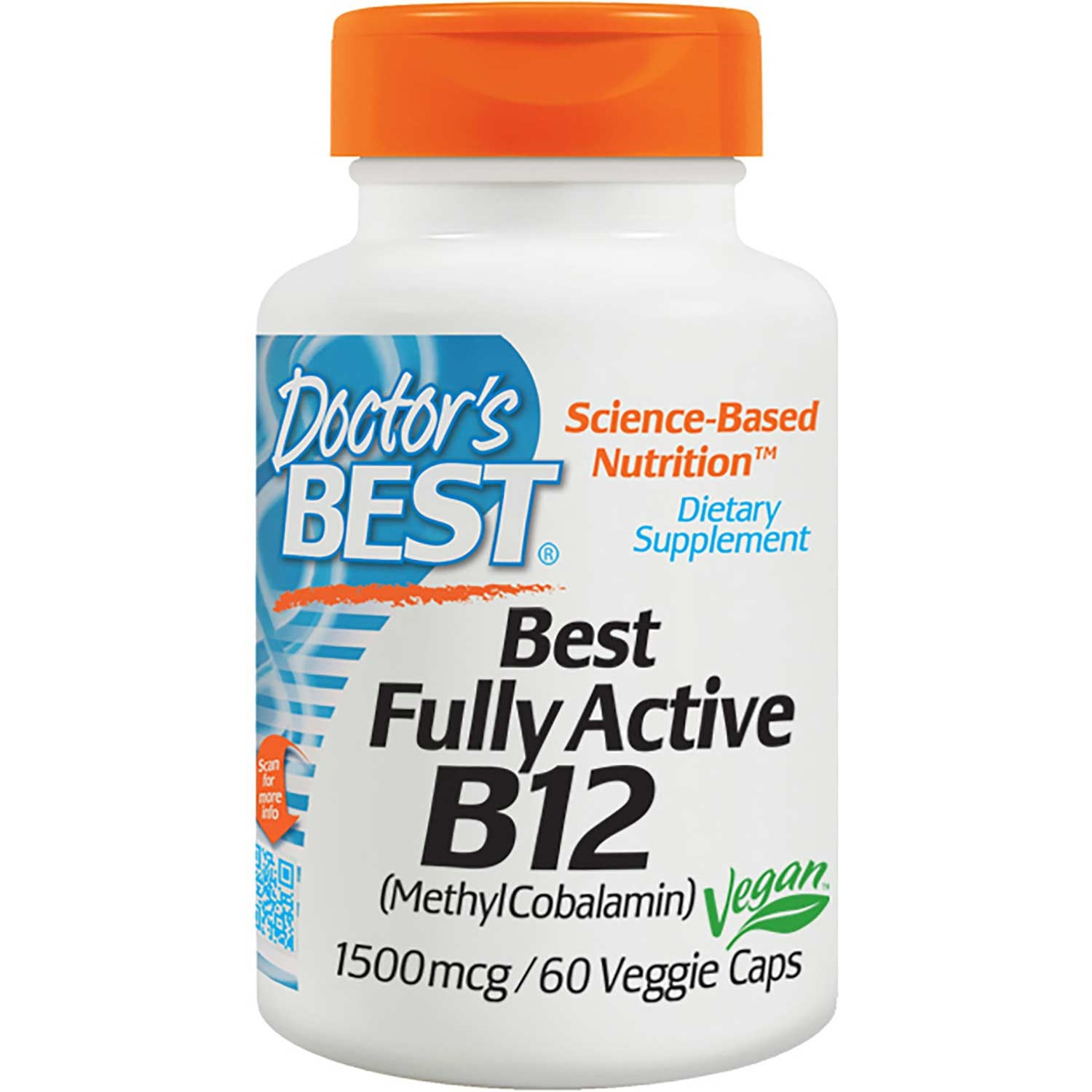 Doctor's Best Fully Active B12 1500mcg, 60 vcaps