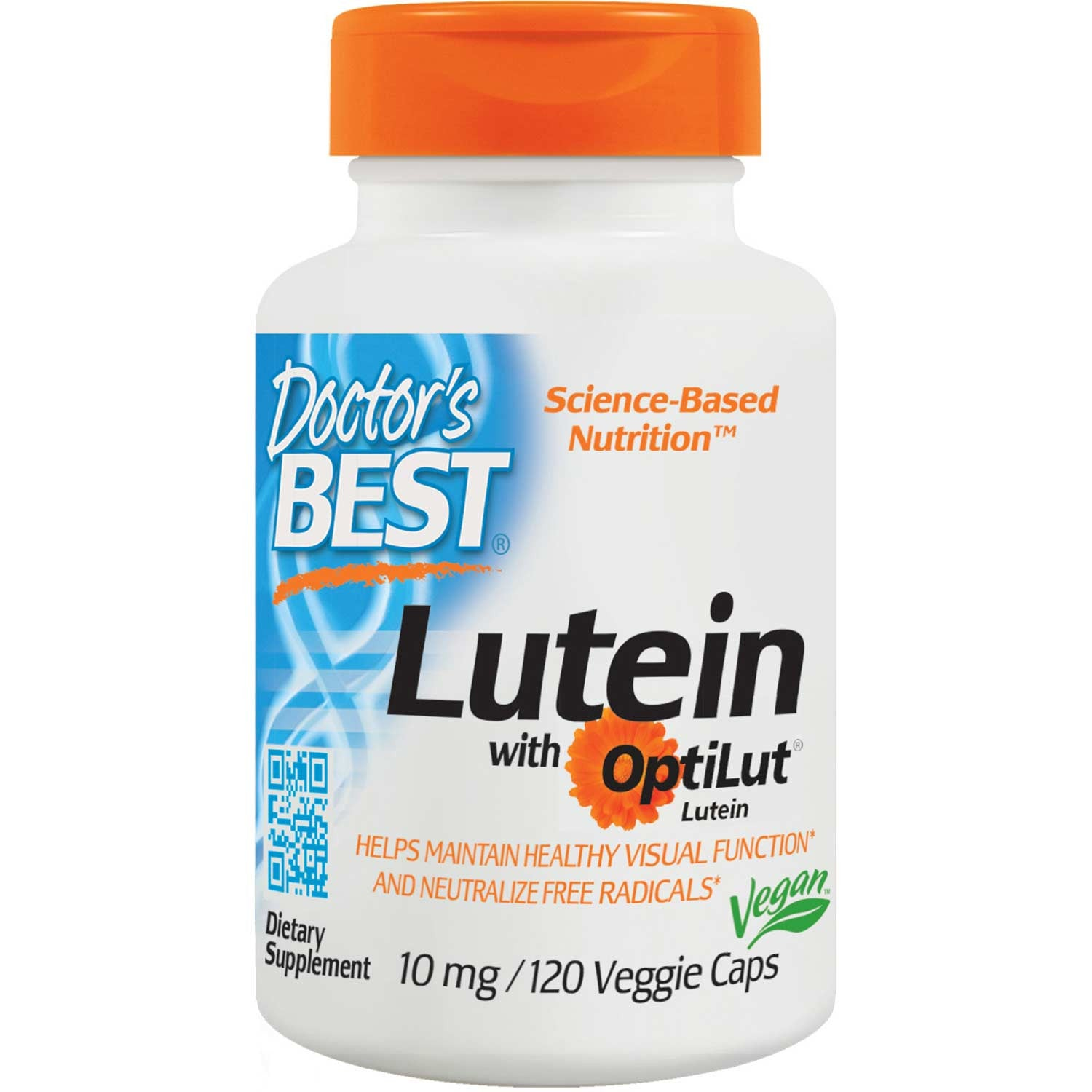 Doctor's Best Lutein with OptiLut 10mg, 120 vcaps-NaturesWisdom