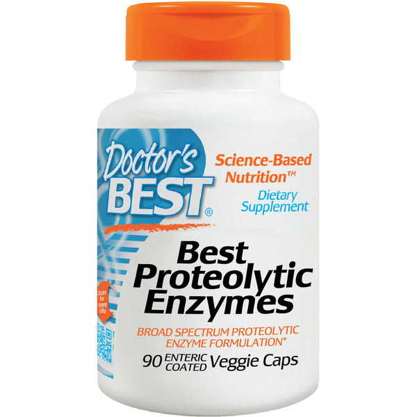Doctor's Best Proteolytic Enzymes, 90 vcaps