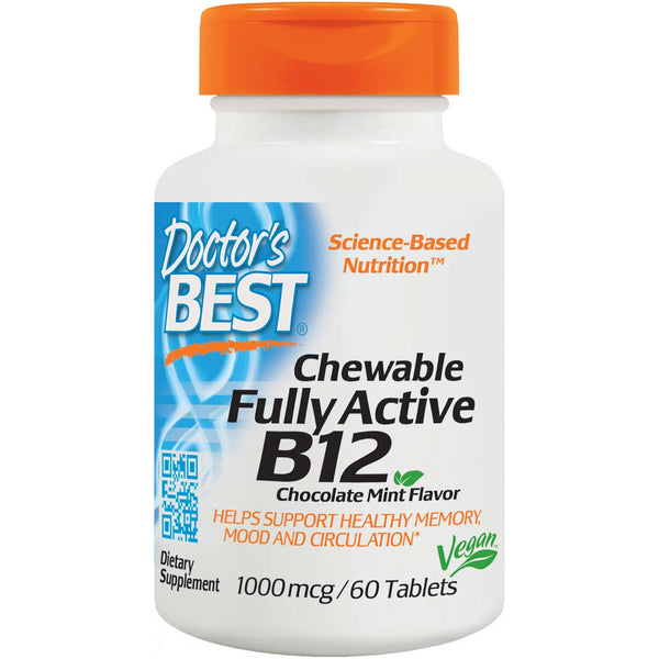 Doctor's Best Quick Melt Fully Active Acitve B12 1000mcg, 60 tabs