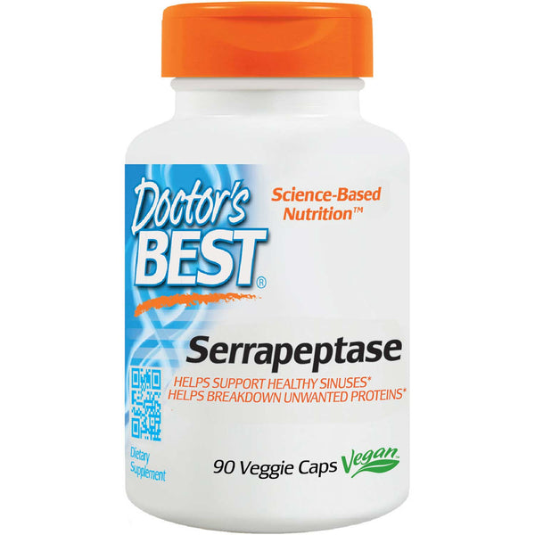 Doctor's Best Serrapeptase, 90 vcaps