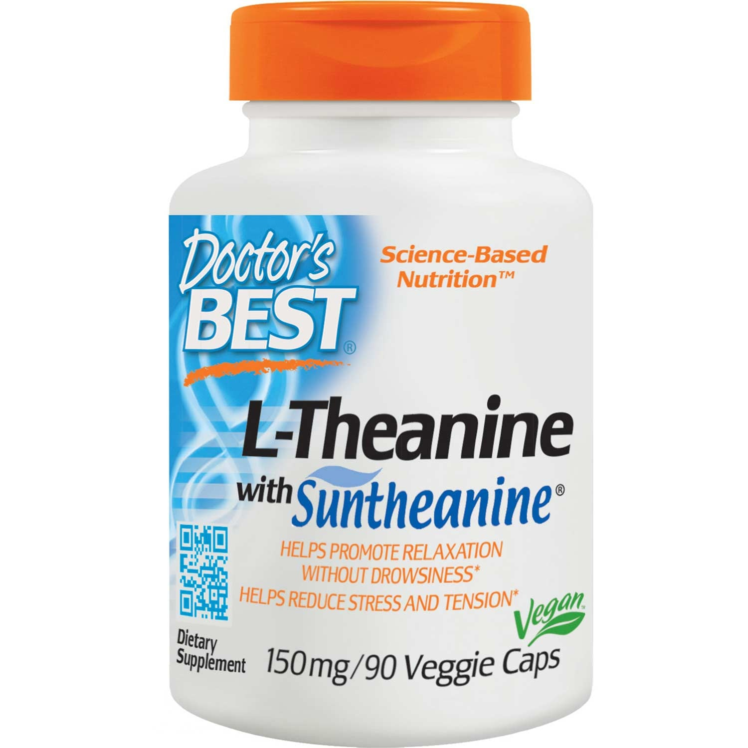Doctor's Best Suntheanine L-Theanine, 150mg, 90 vcaps
