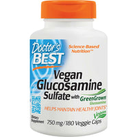 Doctor's Best Vegan Glucosamine Sulfate with GreenGrown Glucosamine 750mg, 180 vcaps