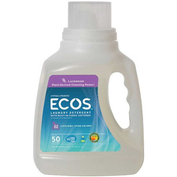 Earth Friendly 2X Concentrate ECOS Laundry Liquid - Lavender, 1478.5 ml.