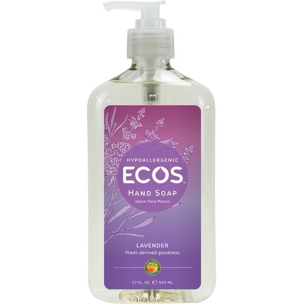 Earth Friendly Hand Soap - Organic Lavender, 500 ml.