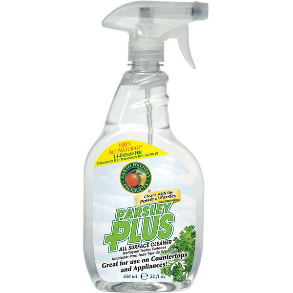 Earth Friendly Parsley Plus All-Purpose Surface Cleaner, 650 ml.