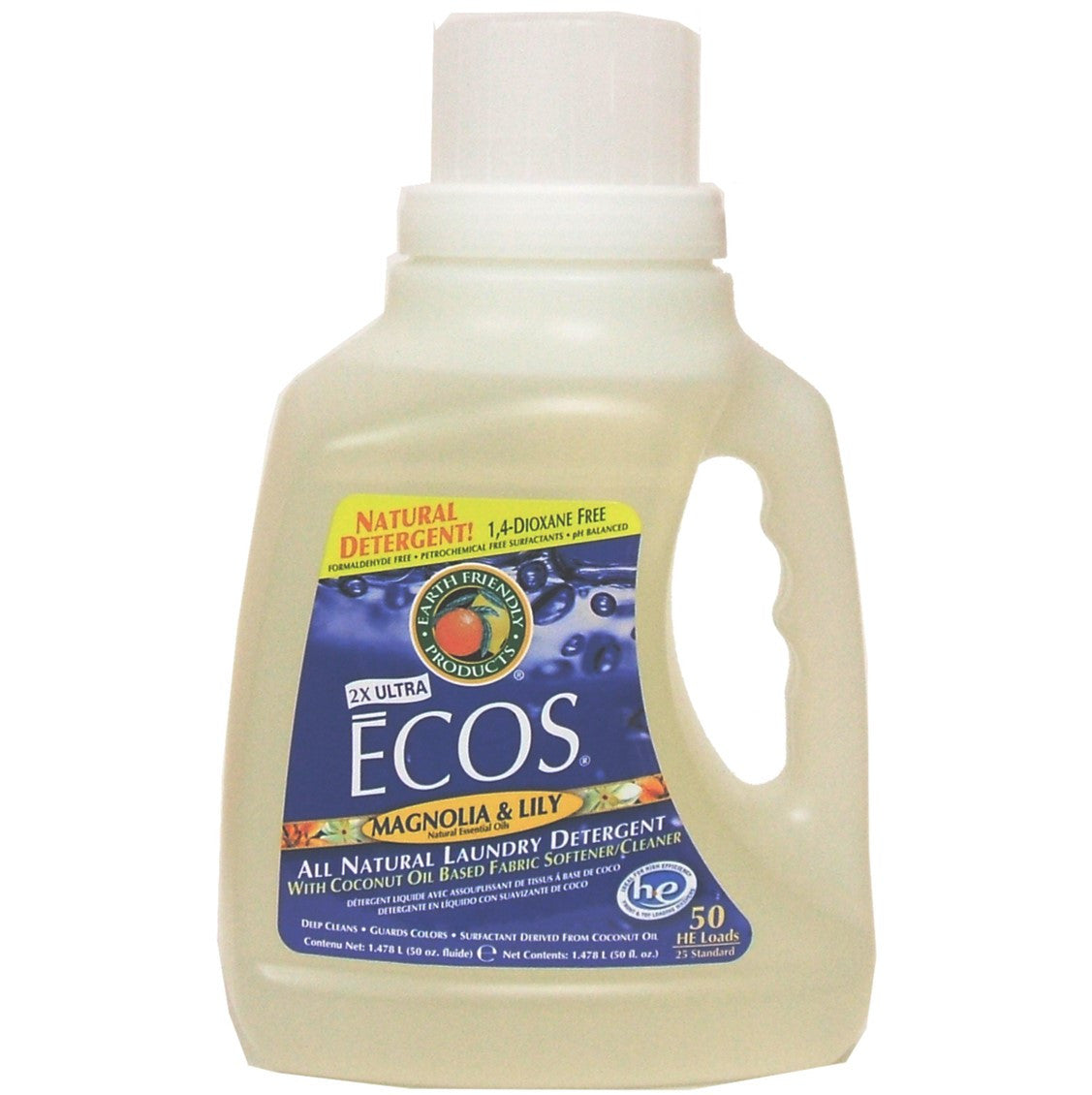 Earth Friendly 2X Concentrate ECOS Laundry Liquid - Magnolia & Lily, 1478.5 ml.
