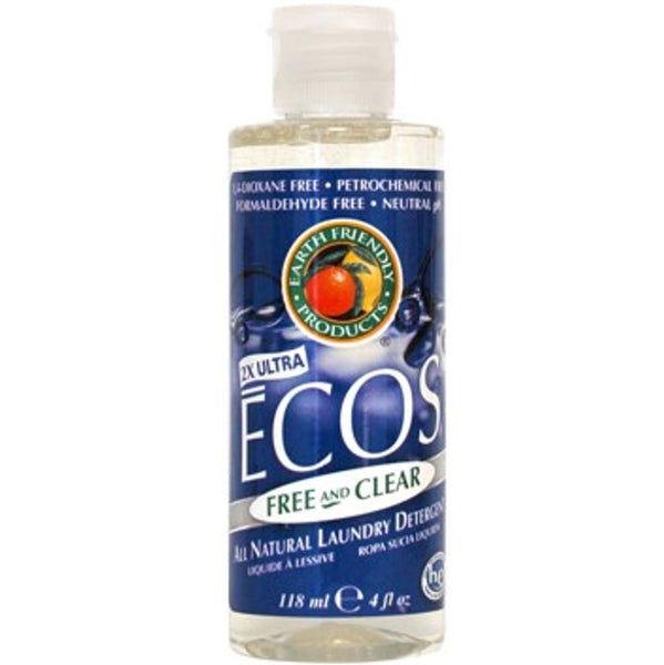 Earth Friendly ECOS Laundry Liquid - Free & Clear, 118 ml.