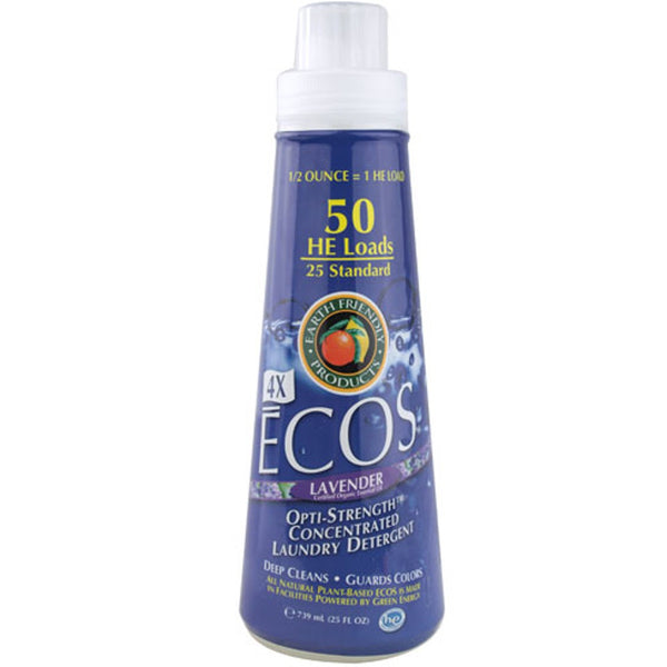 Earth Friendly 4X Concentrate ECOS Laundry Liquid - Lavender, 739 ml.