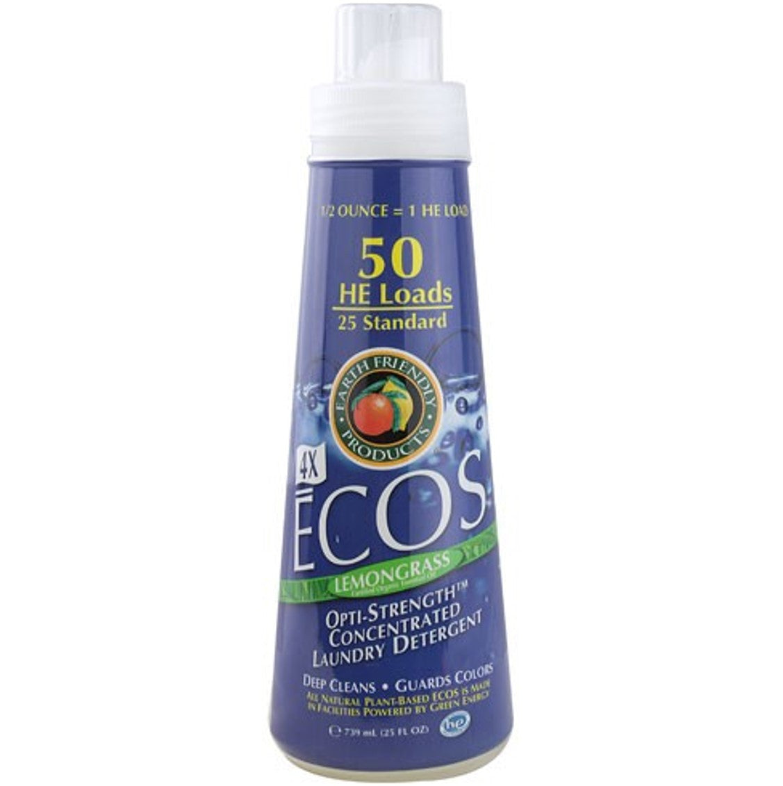 Earth Friendly 4X Concentrate ECOS Laundry Liquid - Lemongrass, 739 ml.