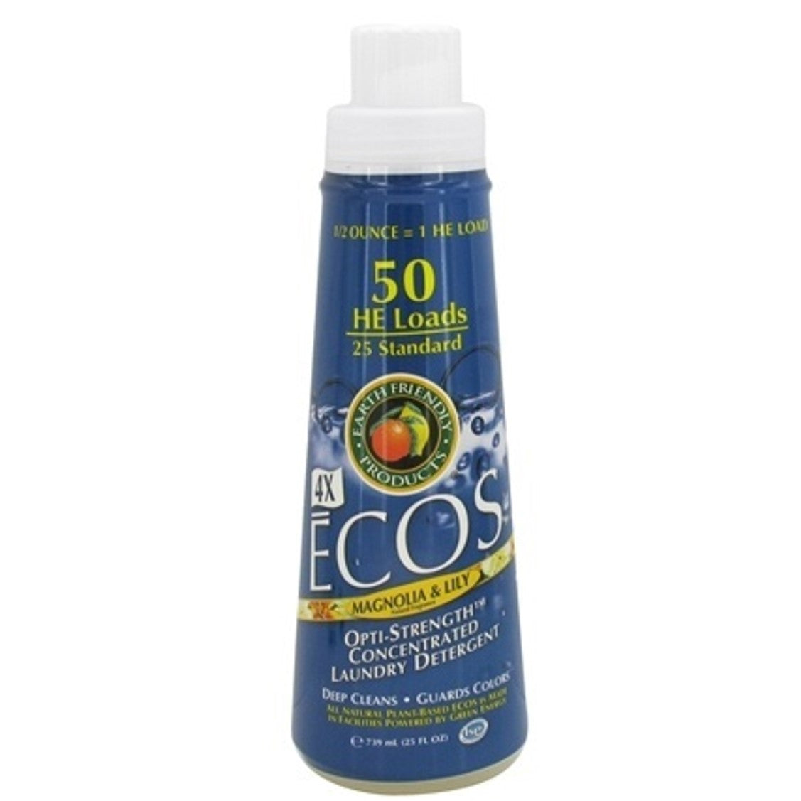 Earth Friendly 4X Concentrate ECOS Laundry Liquid - Magnolia & Lily, 739 ml.