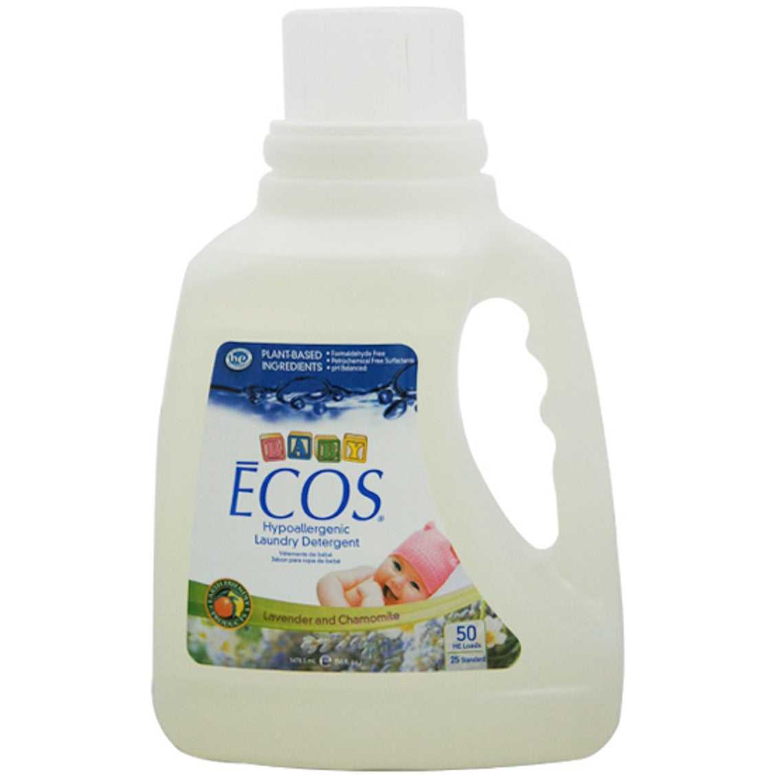 Earth Friendly Baby ECOS Laundry Liquid -Chamomile & Lavender, 1478.5ml.-NaturesWisdom