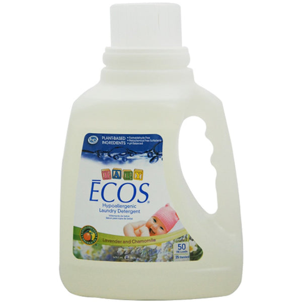 Earth Friendly Baby ECOS Laundry Liquid -Chamomile & Lavender, 1478.5ml.