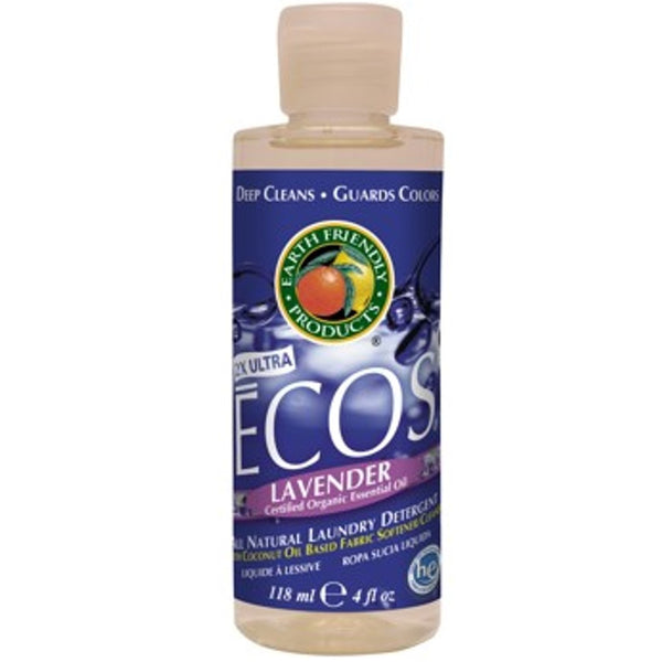 Earth Friendly ECOS Laundry Liquid - Lavender, 118 ml.