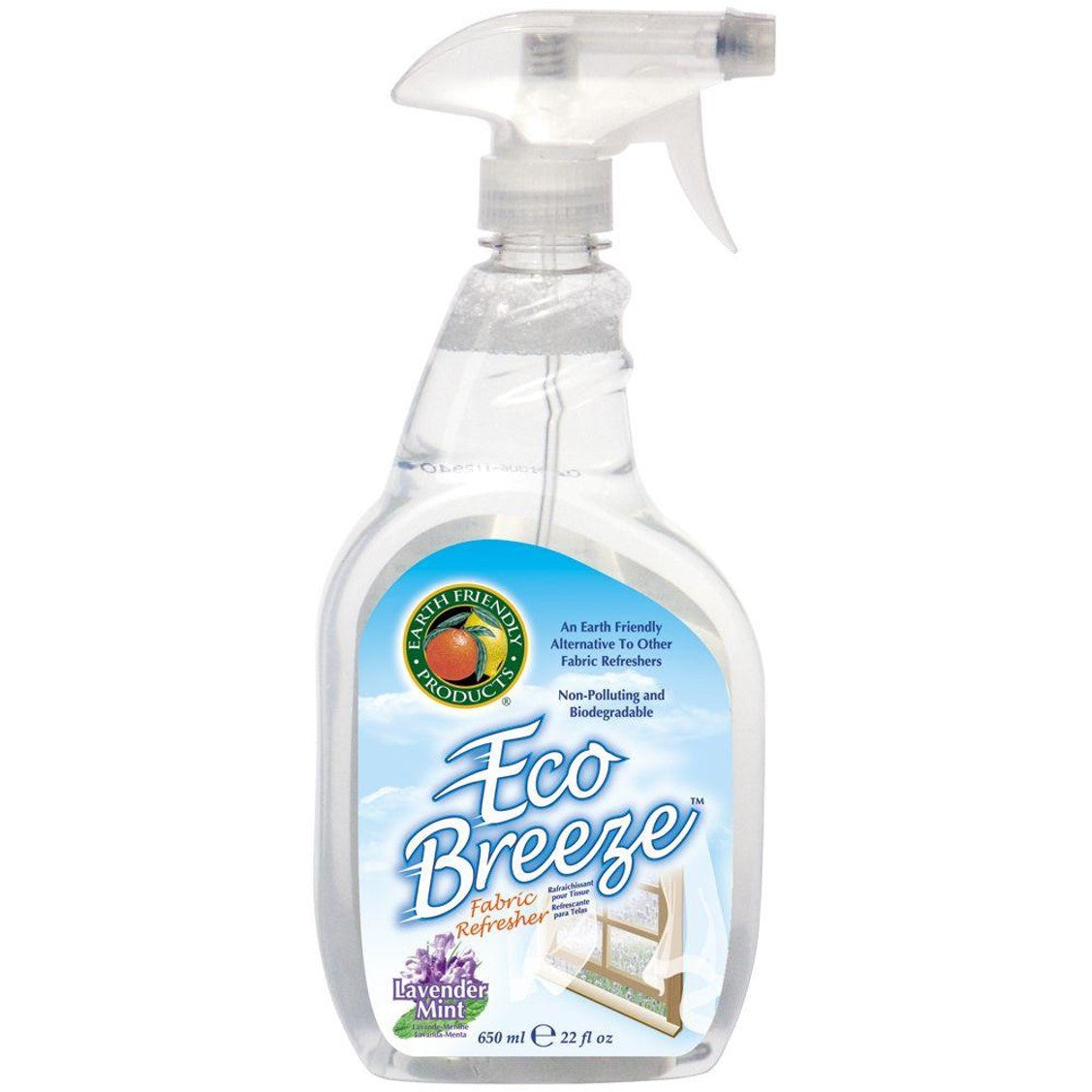 Earth Friendly Eco Breeze Fabric Refresher - Lavender Mint, 650 ml.-NaturesWisdom