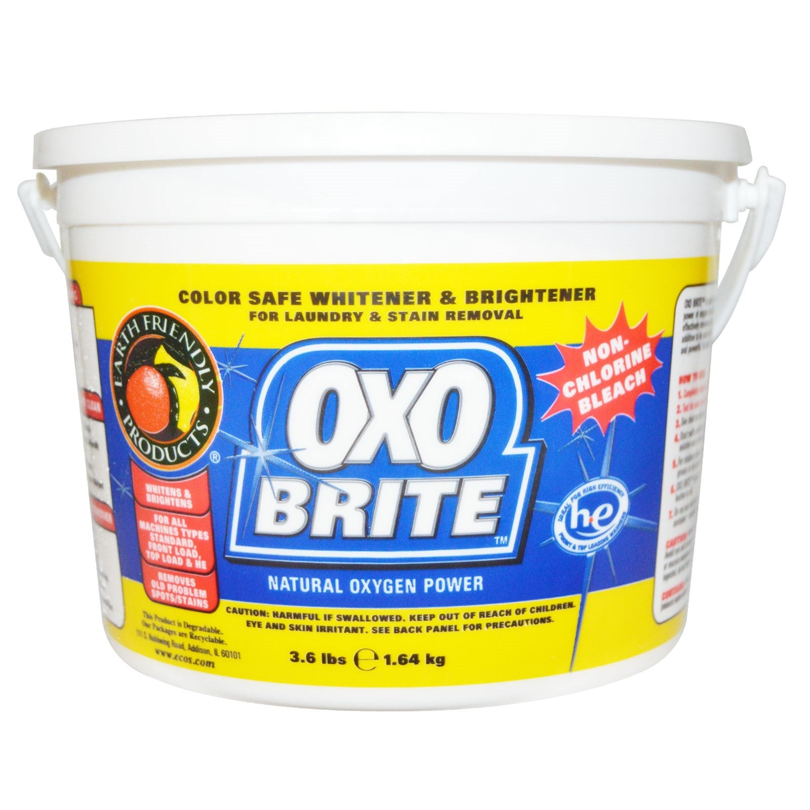 Earth Friendly Oxo-Brite Non-Chlorine Powder Bleach, 1640g.-NaturesWisdom