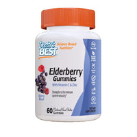 Doctor's Best Elderberry, Vitamin C and Zinc Gummies, 60 gummies.