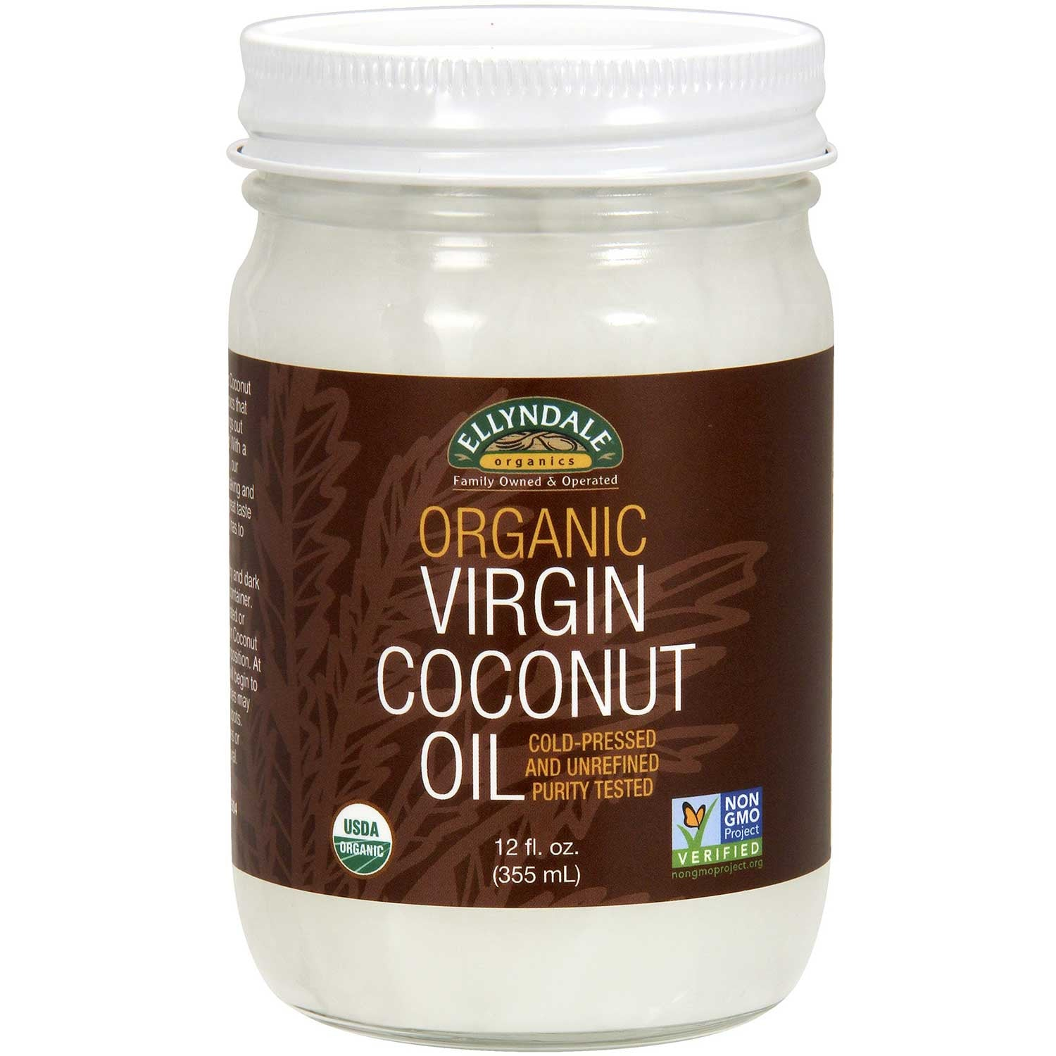 Ellyndale Foods Organic Virgin Coconut Oil (Glass Jar), 355ml.-NaturesWisdom