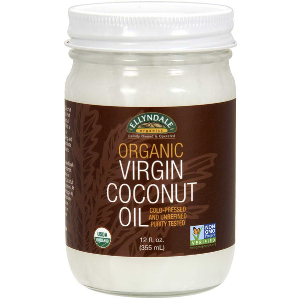 Ellyndale Foods Organic Virgin Coconut Oil (Glass Jar), 355ml.