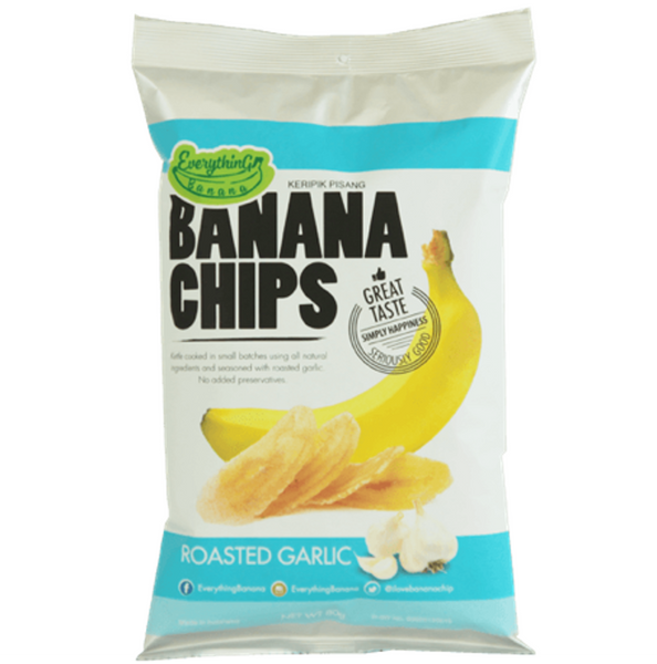 Everything Banana Chips - Roasted Garlic, 80g.
