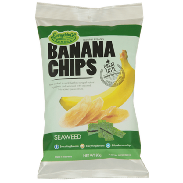 Everything Banana Chips - Seaweed, 80g.